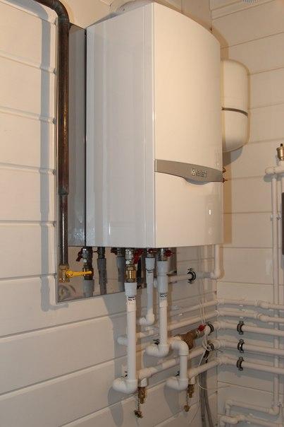 Газовый котел вдоме изклееного бруса: кподключению готов
